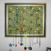 Pretty Fabric Necklace Organizer