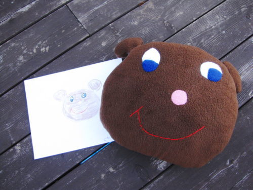 Custom Drawn Stuffed Bear