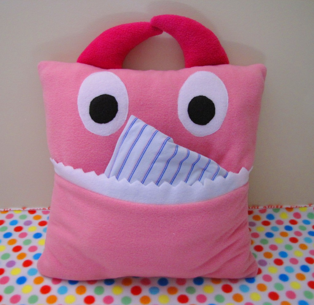 Pajama Eating Monster Pillow