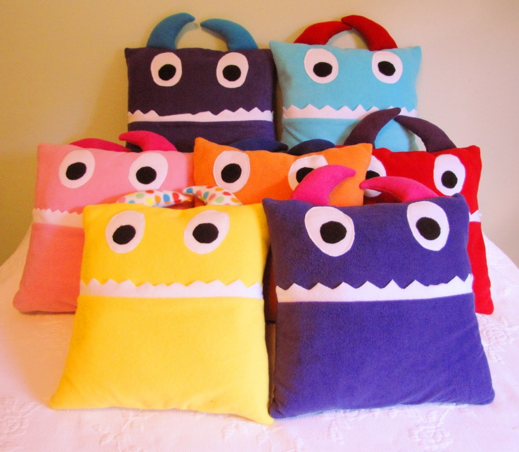 Pajama Eating Monster Pillow Tutorial
