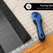 Sewing Basics: How to Hem Curtains