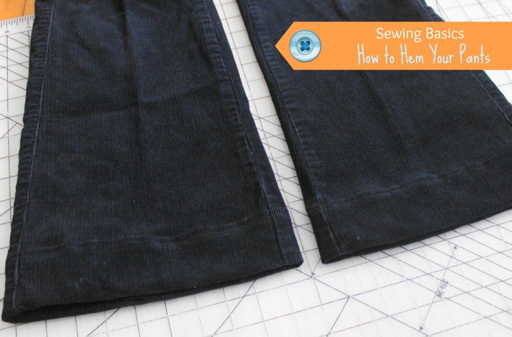How to Hem your Pants tutorial