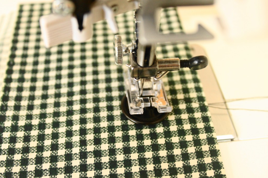 Sewing a Button on by Machine