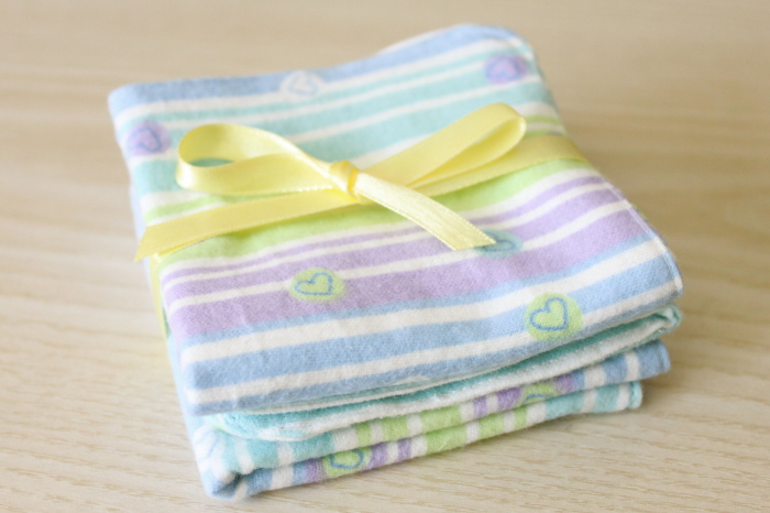 Flannel baby washcloths
