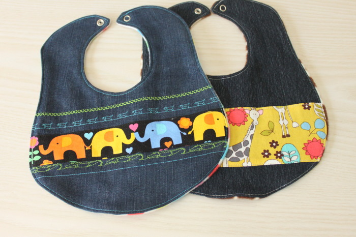 Denim Bibs made with old jeans