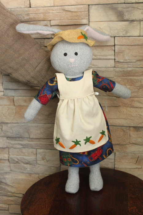 A dress and pinafore fit for a bunny!