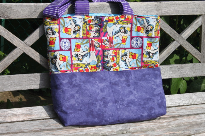 Handmade Superwoman Beach Bag